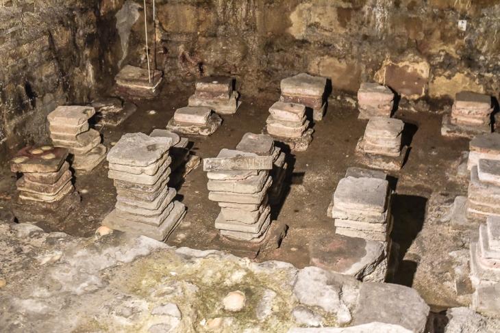 Roman stone carvings in Bath England10